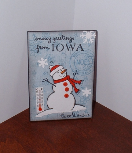 Snowy greetings from Iowa!