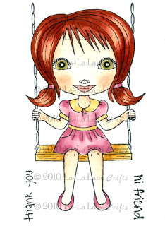 Lala on a Swing with Copyright