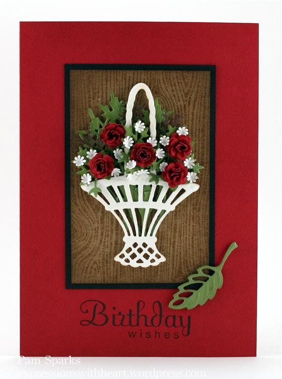 Marianne Design Basket Birthday Wishes
