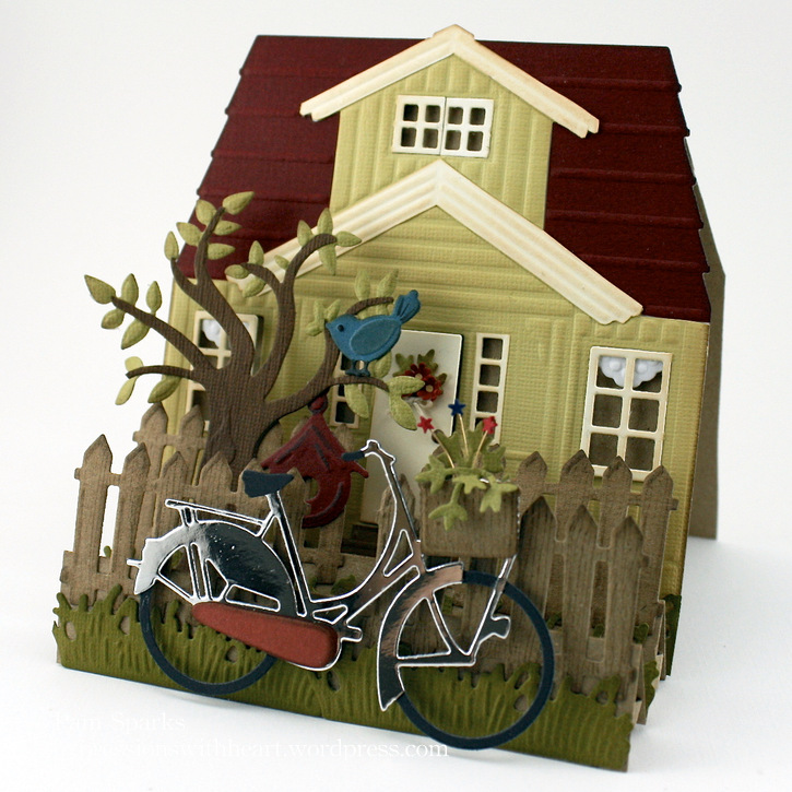 Marianne design scandinavian house and bicycle scene for Scandinavian design house