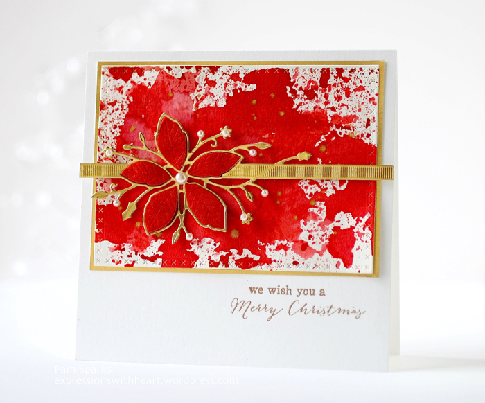 New Memory Box Poinsettia Ribbon card…