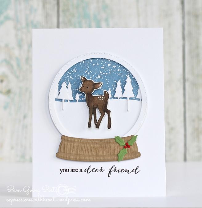 Pam Sparks Deer Snowglobe 1