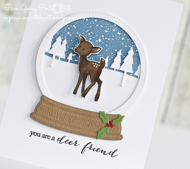 Pam Sparks Deer Snowglobe Close 1