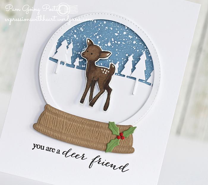 Pam Sparks Deer Snowglobe Close 1