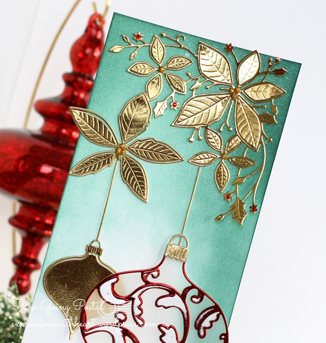 Pam Sparks Elliana Ornament and Poinsettia Close 1