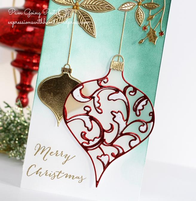 Pam Sparks Elliana Ornament and Poinsettia Close 2