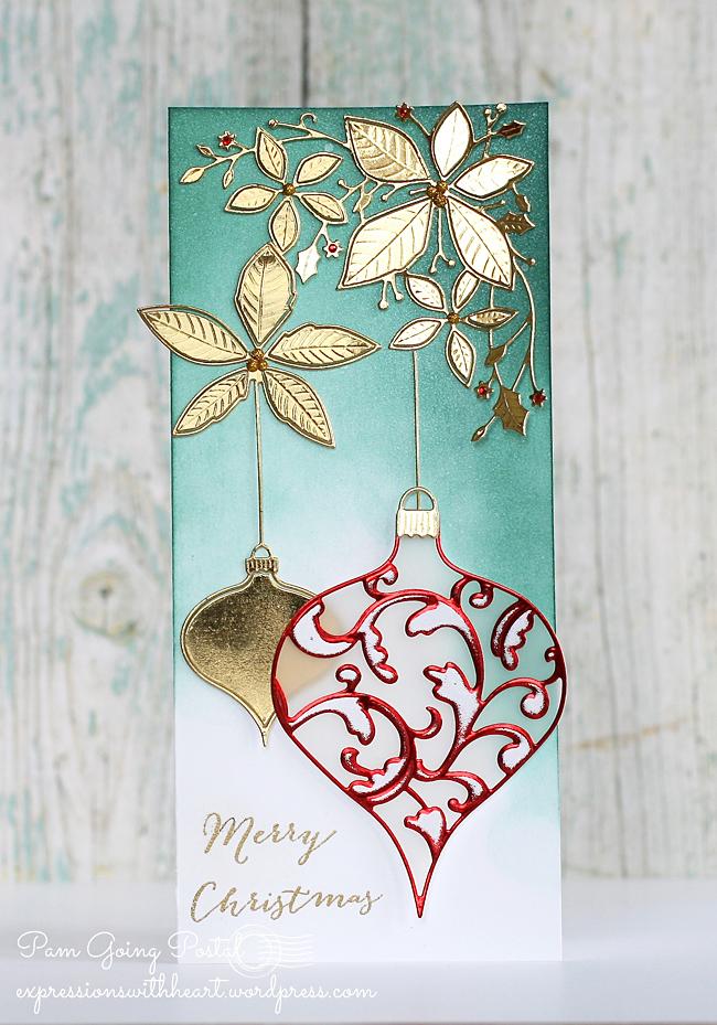 Pam Sparks Elliana Ornament with Poinsettia Corner