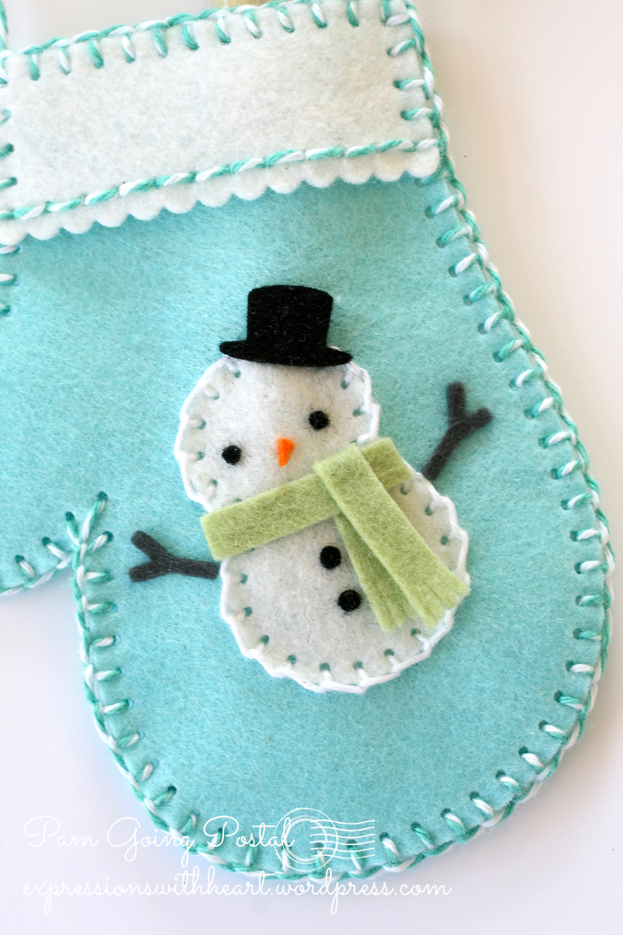 Pam Sparks Plush Frosty Mitten and Sheldon Close