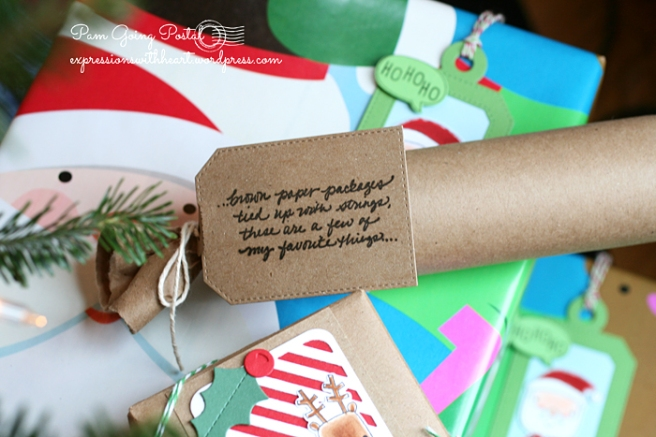Pam Sparks Brown Paper Pkgs tag