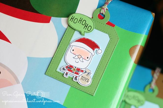 Pam Sparks RC Santa HOHOHO tag
