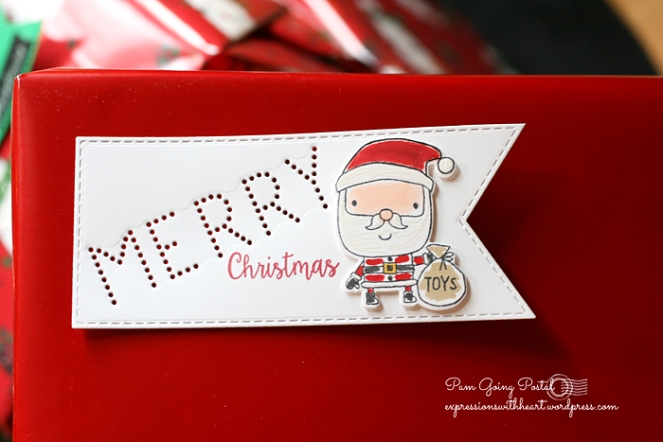 Pam Sparks RC Santa Merry tag