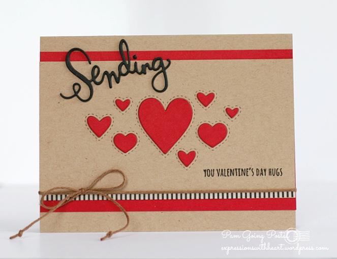 Pam Sparks SSS Stitched Hearts Kraft