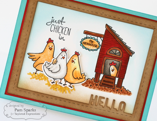 Pam Sparks Happy Hens Hello Frame Close