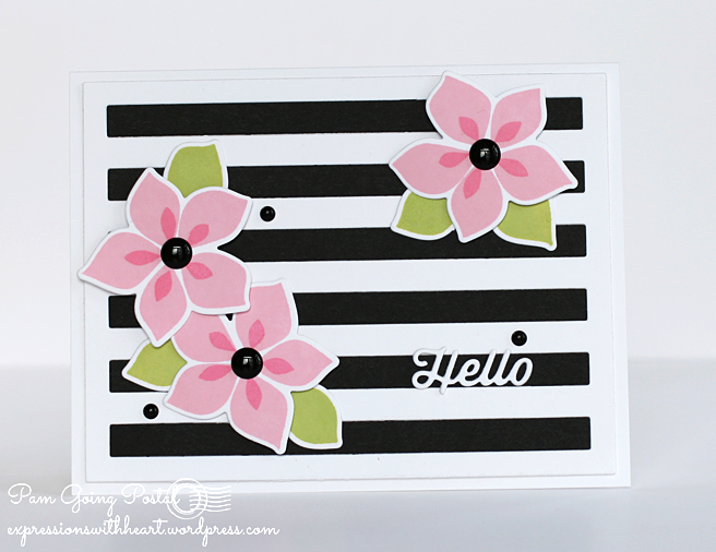 Pam Sparks MFT Challenge Hello Winter Warmth Flowers