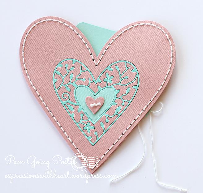 Pam Sparks Plush Heart Pocket Cardstock 2