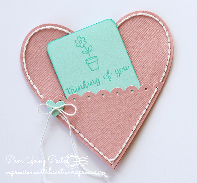 Pam Sparks Plush Heart Pocket Cardstock Back