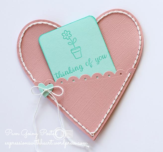 Pam Sparks Plush Heart Pocket Cardstock Back