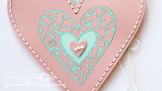 Pam Sparks Plush Heart Pocket Cardstock Front Close