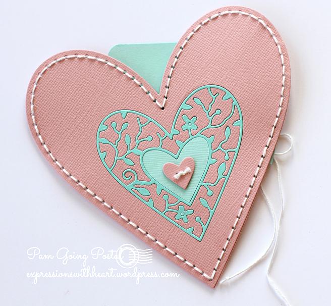 Pam Sparks Plush Heart Pocket Cardstock