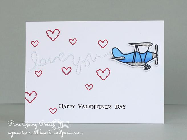 Pam Sparks Airplane Valentine
