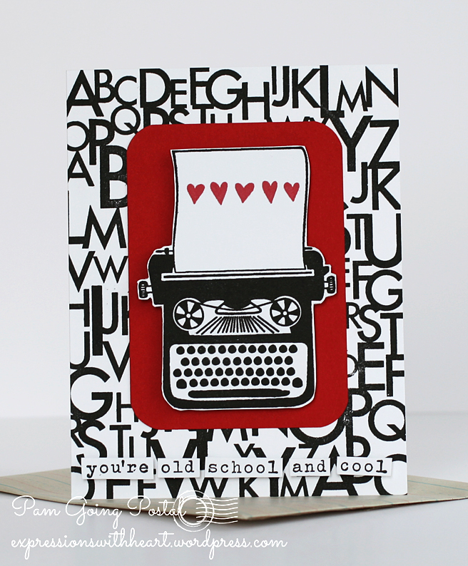 Pam Sparks Typewriter Valentine