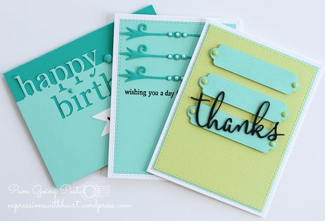 Pam Sparks CAS(e) Sketch cards