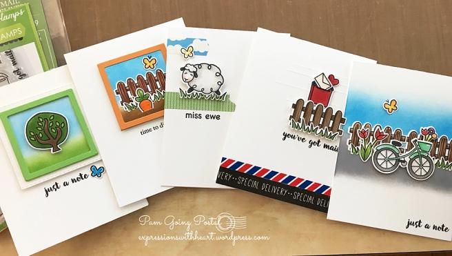 Pam Sparks 5 cute poppy cards