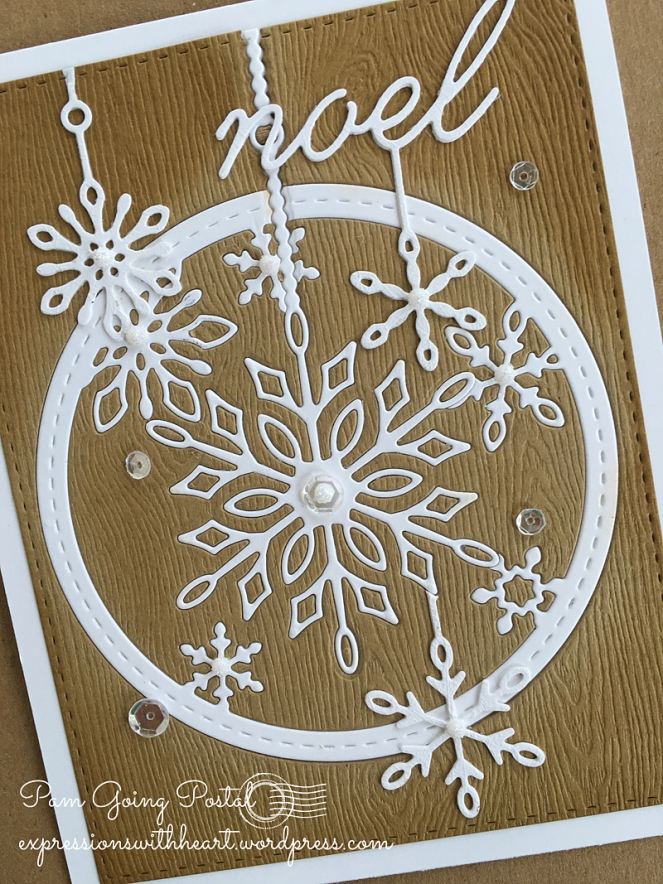Pam Sparks MB kraft snowflakes Close