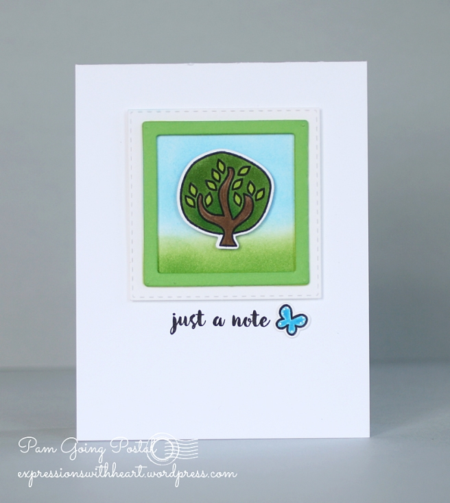 Pam Sparks ps Tree Just A Note