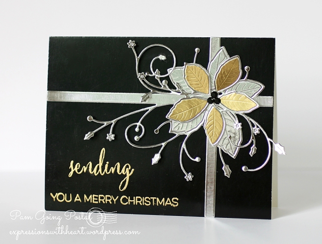 Pam Sparks Gift Wrapped Poinsettia Black