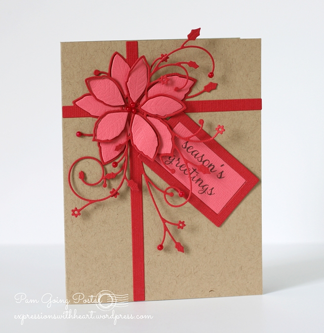 Pam Sparks Gift Wrapped Poinsettia Red