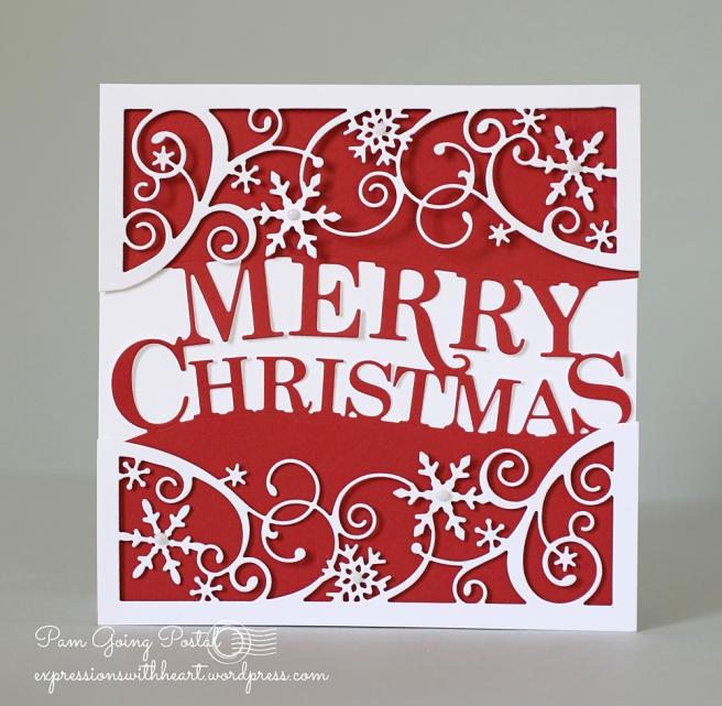 A Cas Memory Box Merry Christmas Card