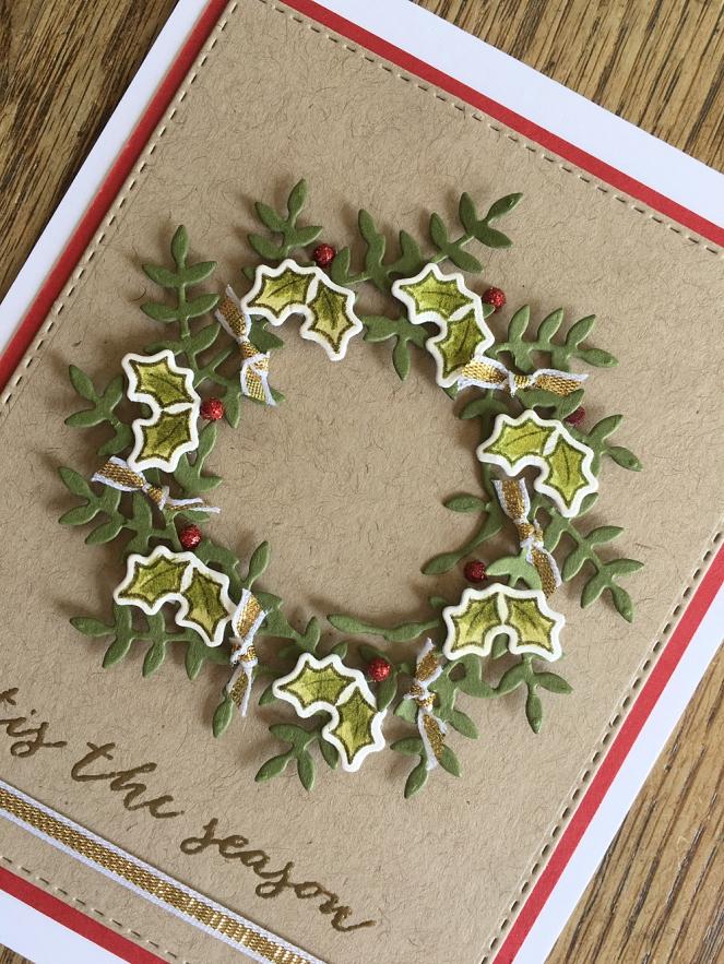 Pam Sparks Freida Wreath Christmas Close