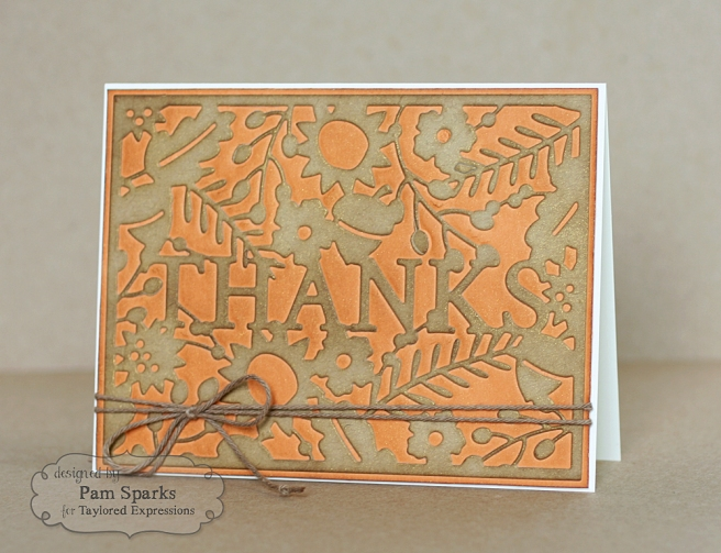 Pam Sparks Thanks Cutting Plate Pumpkin Tues