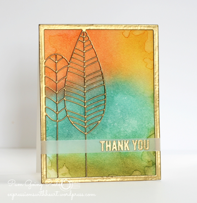 Pam Sparks Feathertree Frame Thank you