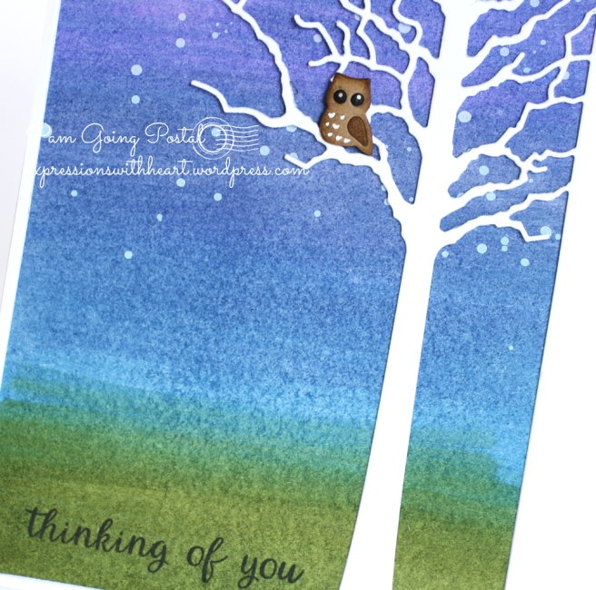 Pam Sparks Forest Tree Frame Owl Close
