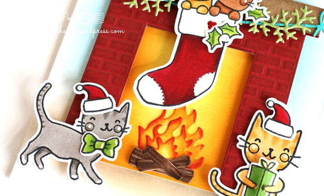 pam-sparks-purr-fect-c-mas-fireplace-bow-kitty-close