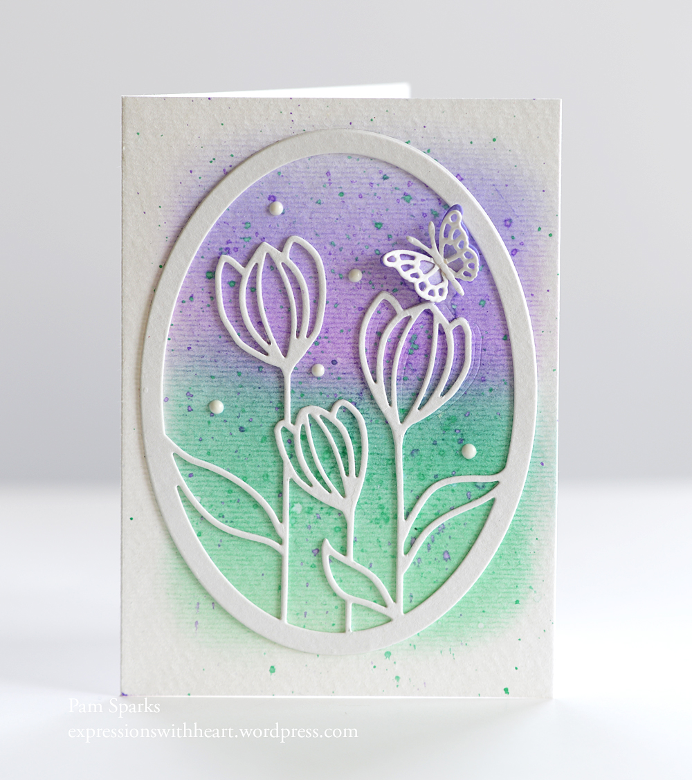 Floral Bloom Oval Frame