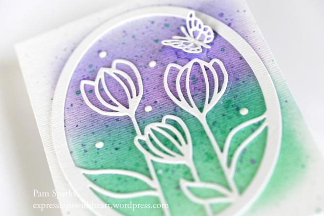 Memory Box cutting dies Tulip Flowers metal die Floral Bloom Oval Frame 99912