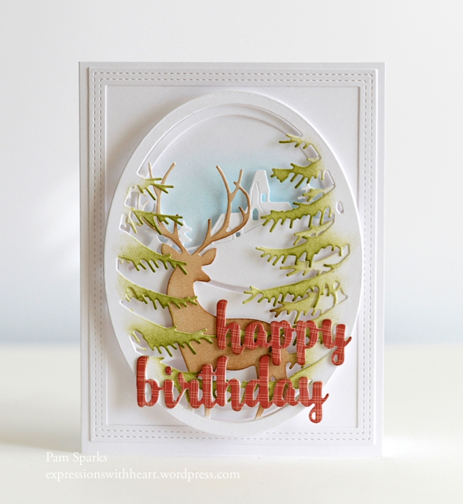 Memory Box Grand Stag Oval Frame Pine Branch Oval Frame Country