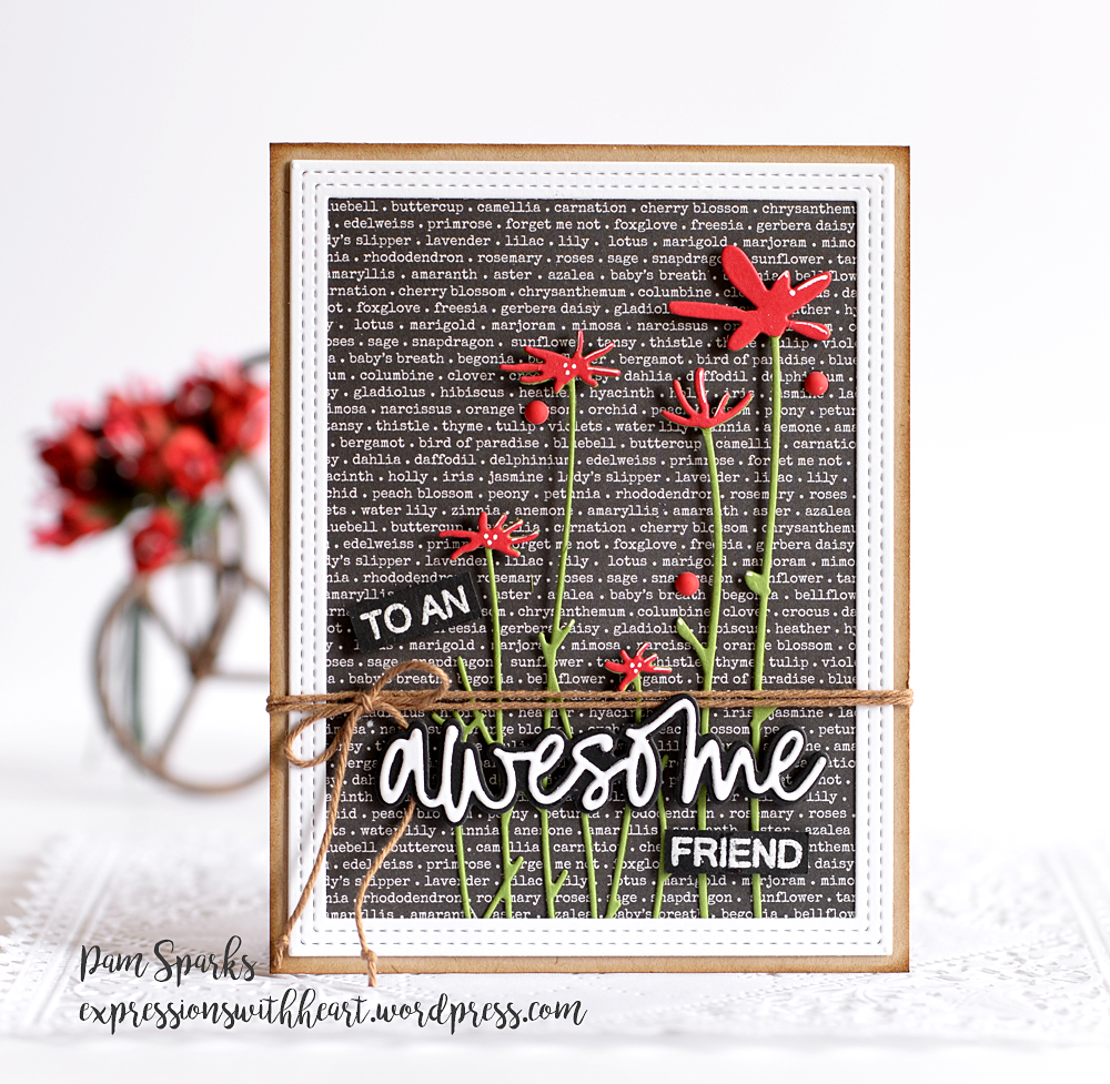 Sentiments of Hello clear stamp set