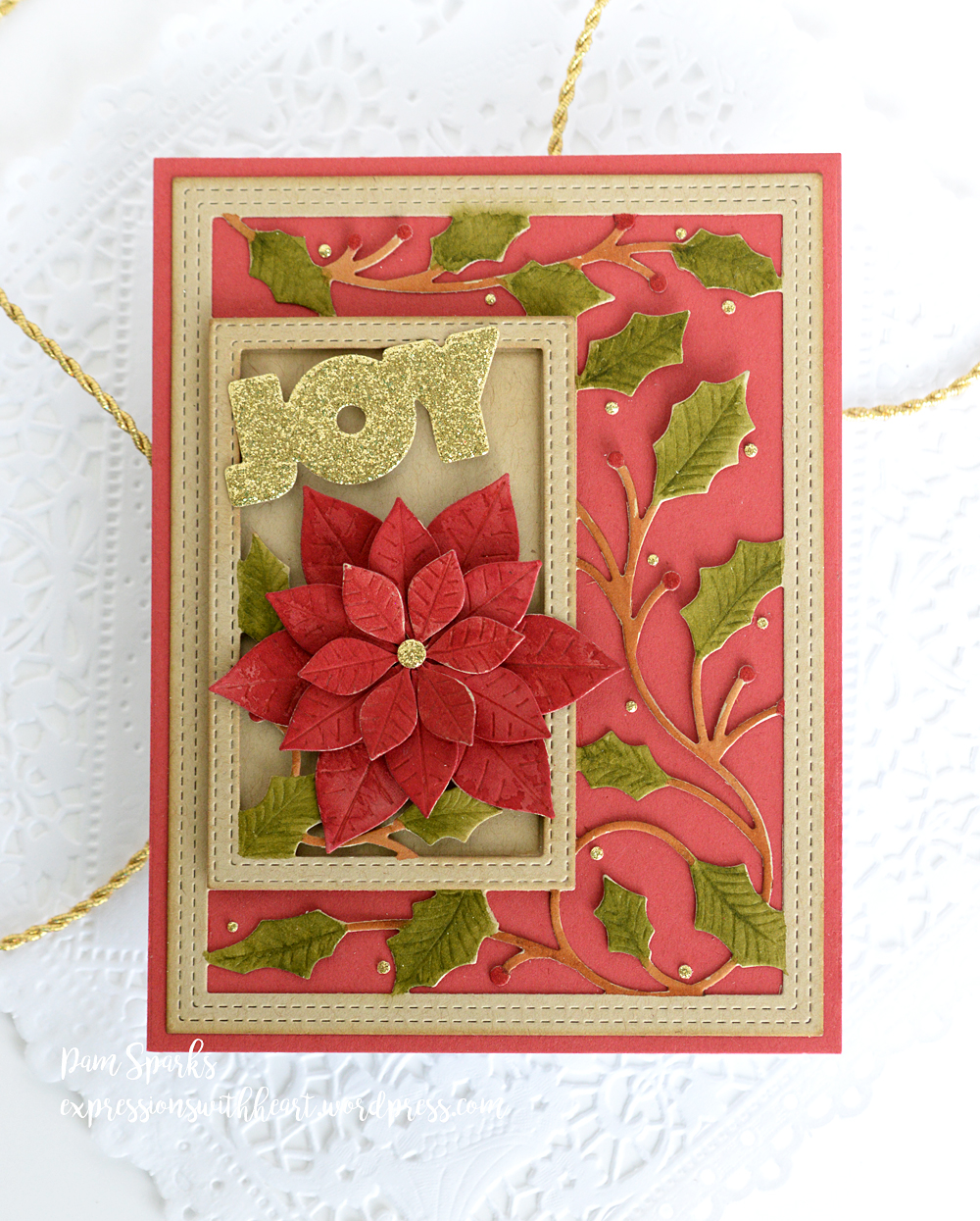 2103 Simple Holly Vine Frame craft die