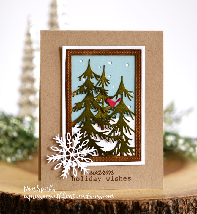 Christmas Card Frame.Memory Box Delicate Pine Frame Pine Forest Frame Masculine