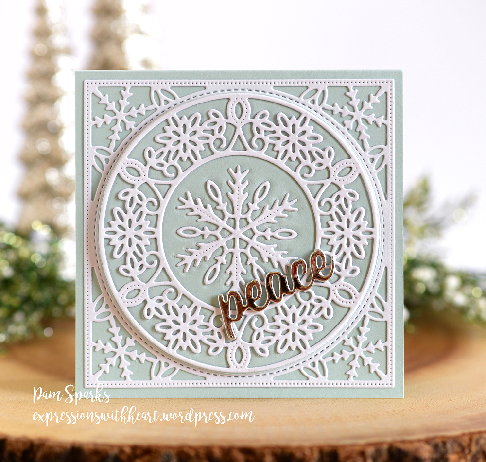 94017 Peace Cheshire Script craft die