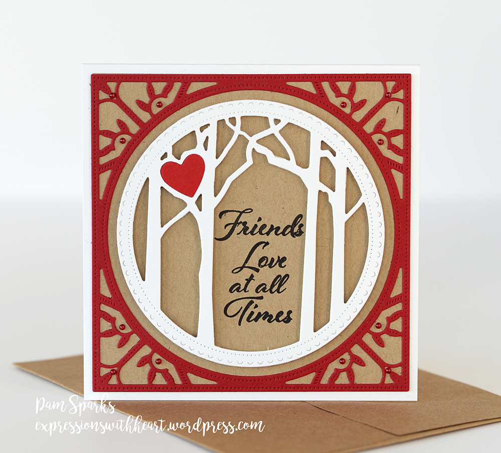 94121 Woodland Heart Frame craft die