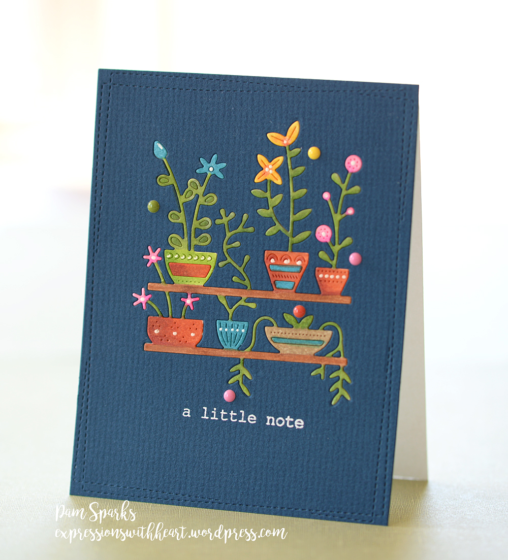 2174 Spring Pots Shelves craft die