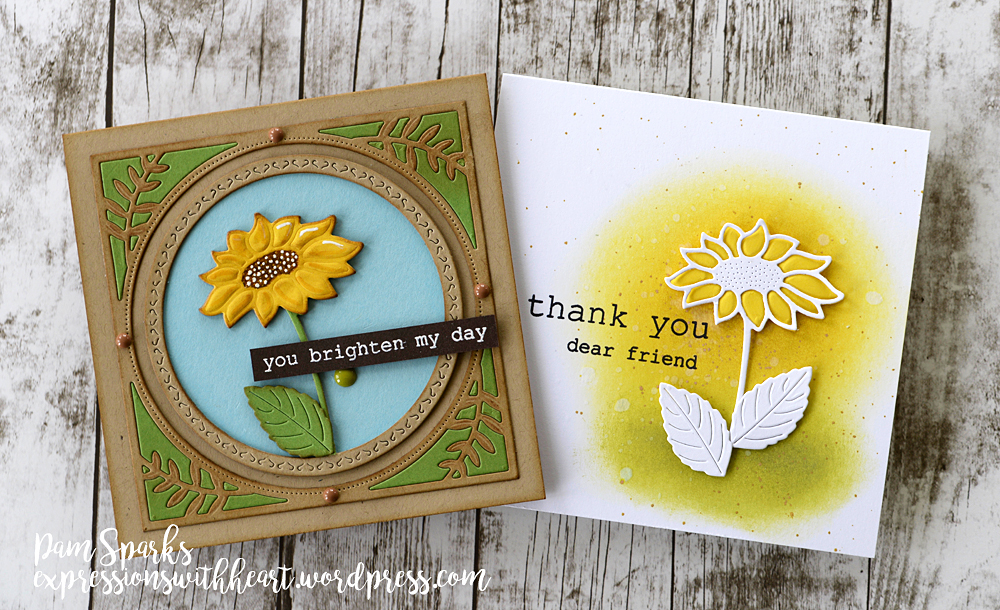 94257 Brilliant Sunflower craft die