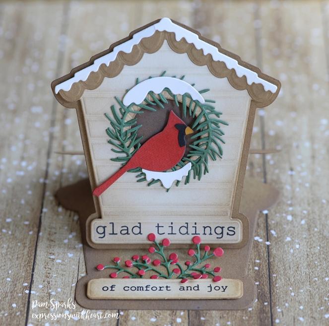 2396 Bird House Pop Up Easel Set craft die