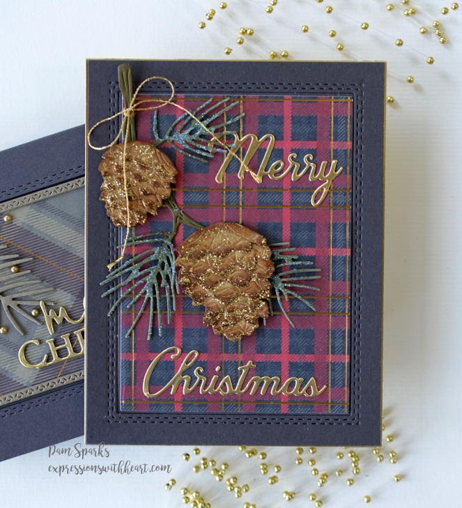 2020 Memory Christmas Cards Two Cards with Memory Box NEW Christmas Dies…