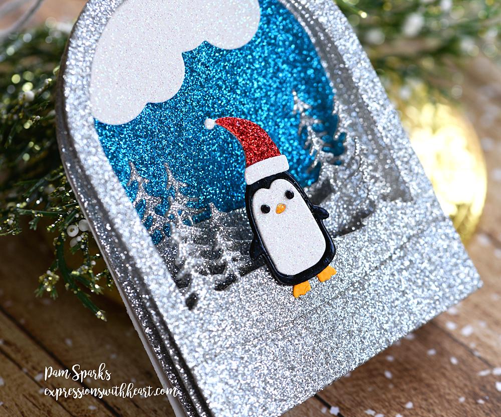 94491 Snowglobe Backer craft die